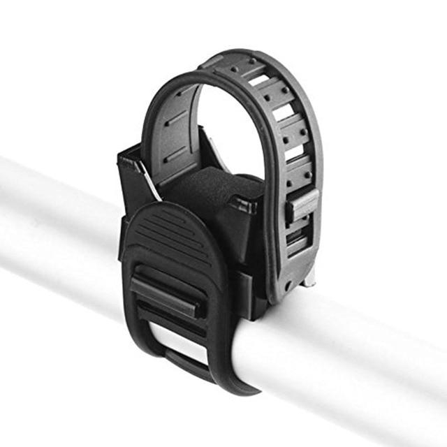 Ciclismo bicicleta luz da lâmpada faixa cinta suporte titular 360 rotação aperto led lanterna tocha braçadeira clipe de montagem 2