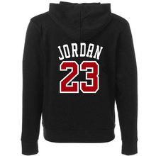 Autumn 2016 new women/men's casual players 23 Jordan print hedging hooded fleece sweatshirt hoodies pullover