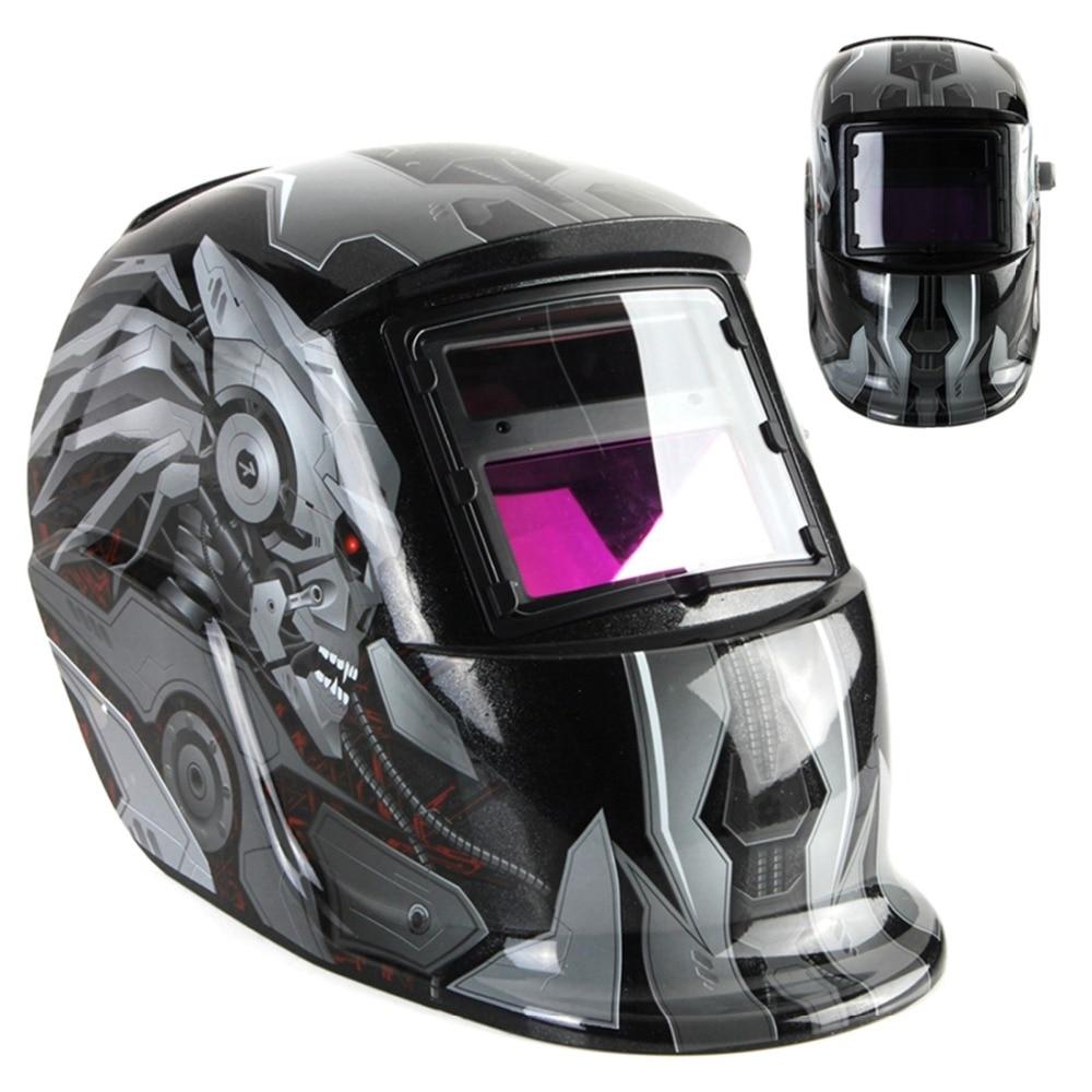 New Transformers Style Cool Solar Auto Darkening Welding Helmet ARC TIG MIG Weld Welder Lens Grinding Welding Mask km 1600 welding mask arc tig mig weld solar auto darkening helmet