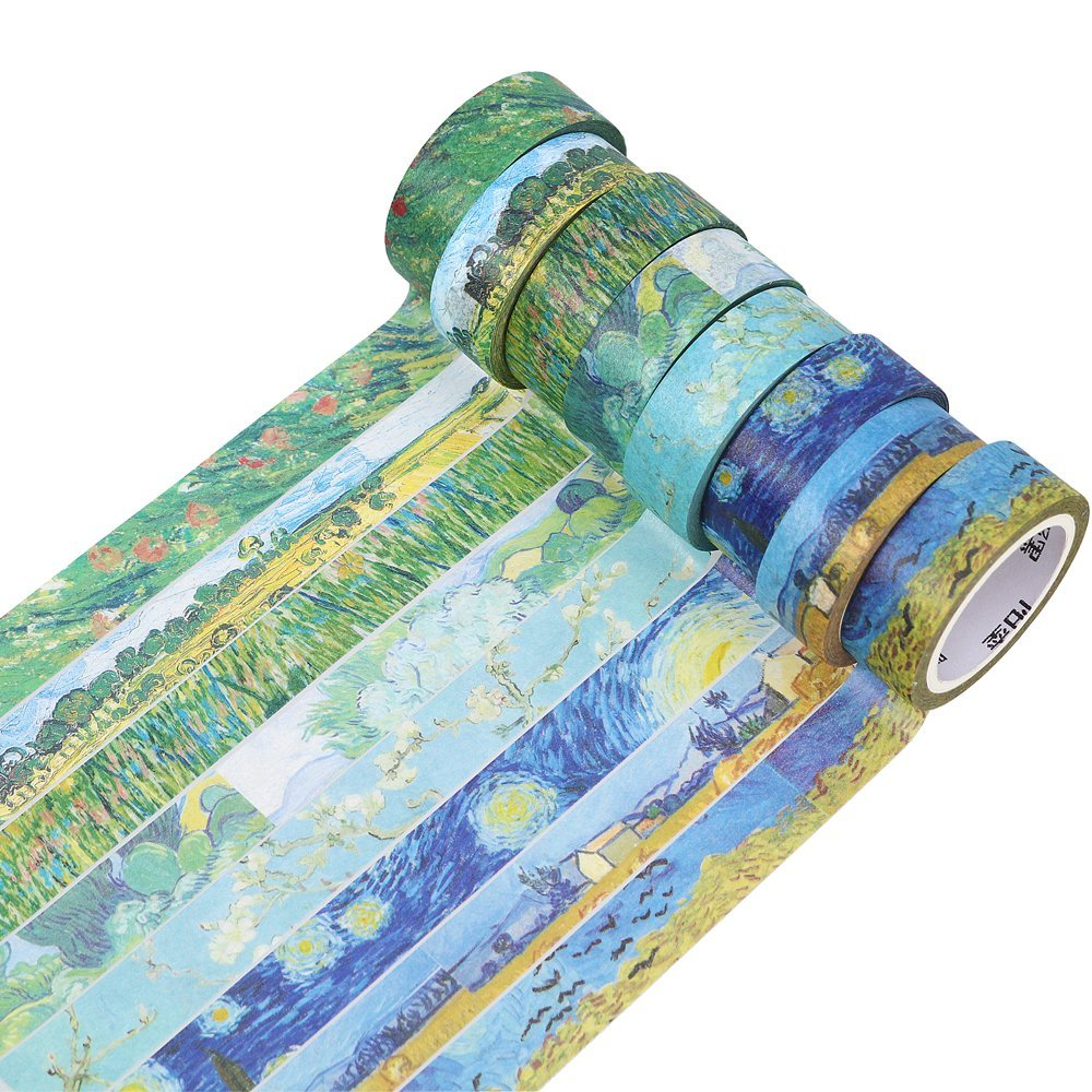 Van Gogh's Paintings Theme Paper Washi Tape 15mm X 7m Masking Tapes Decorative Stickers DIY Stationery School Supplies