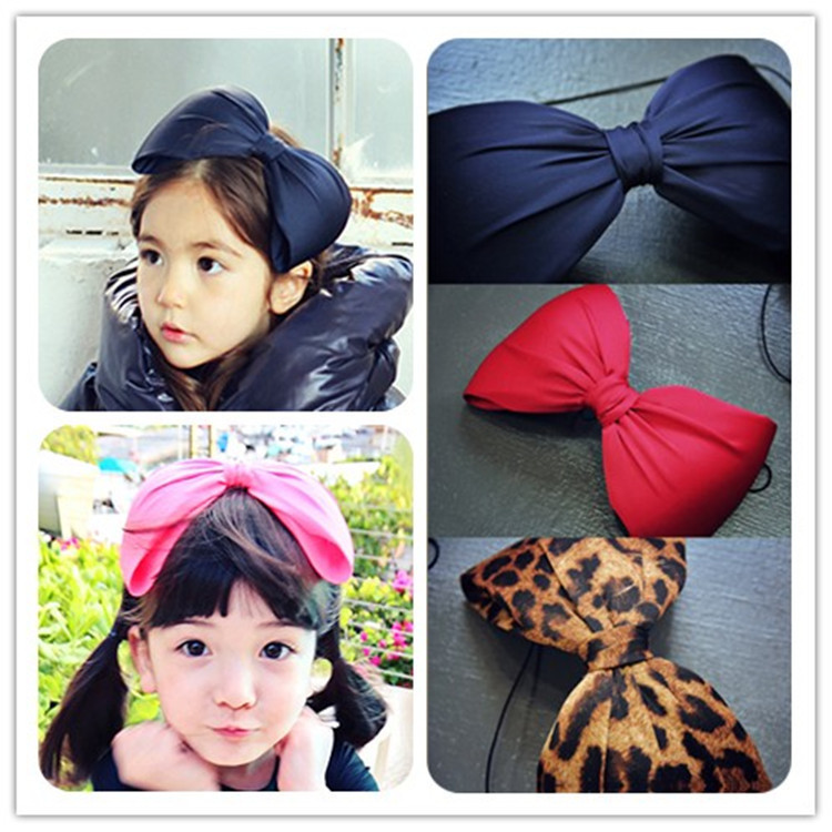 Newest Headbands Good Quality Fabrics Big Bowknots Headwrap For Girls Children Hair Accessories Sexy Leopart Printing Hairbands