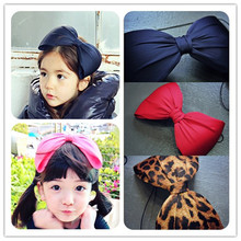 New arrival High grate 3D Ribbon bowknots hairbands for children big size lovely knots hair accessory with good quality 5pcs/lot