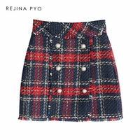 Тёплая мини-юбка в стиле известного бренда
