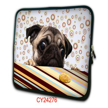 """Cute pug Tablet PC Bag For 10""""13""""15""""17"""" inch neoprene Notebook protective Netbook sleeve Painted Laptop Cover NS-24276"""