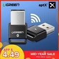 Ugreen USB Bluetooth Dongle adaptador 4,0 para PC ordenador altavoz inalámbrico ratón Bluetooth música receptor transmisor aptx