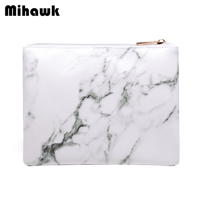 Mihawk Marmor Mini Kosmetik Taschen Make-up Gadget Zipper Paket Reisebüro Toiletry Ätherisches Lagerung Pack Organizer Getriebe Kosmetik Taschen & Koffer