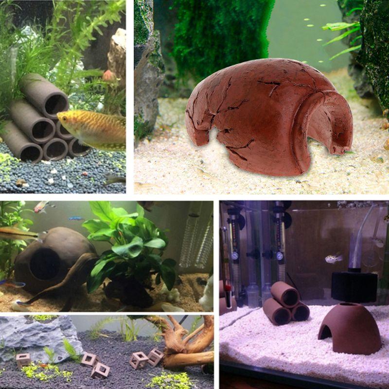 Aquarium Fish Tank Decorations Turtle Lizard Underwater Hide Out Place