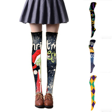 Fashion Ladies Over The Knee Socks Women Stockings Cute Thigh High Christmas Long For Girls Knitted Gifts 5SW22