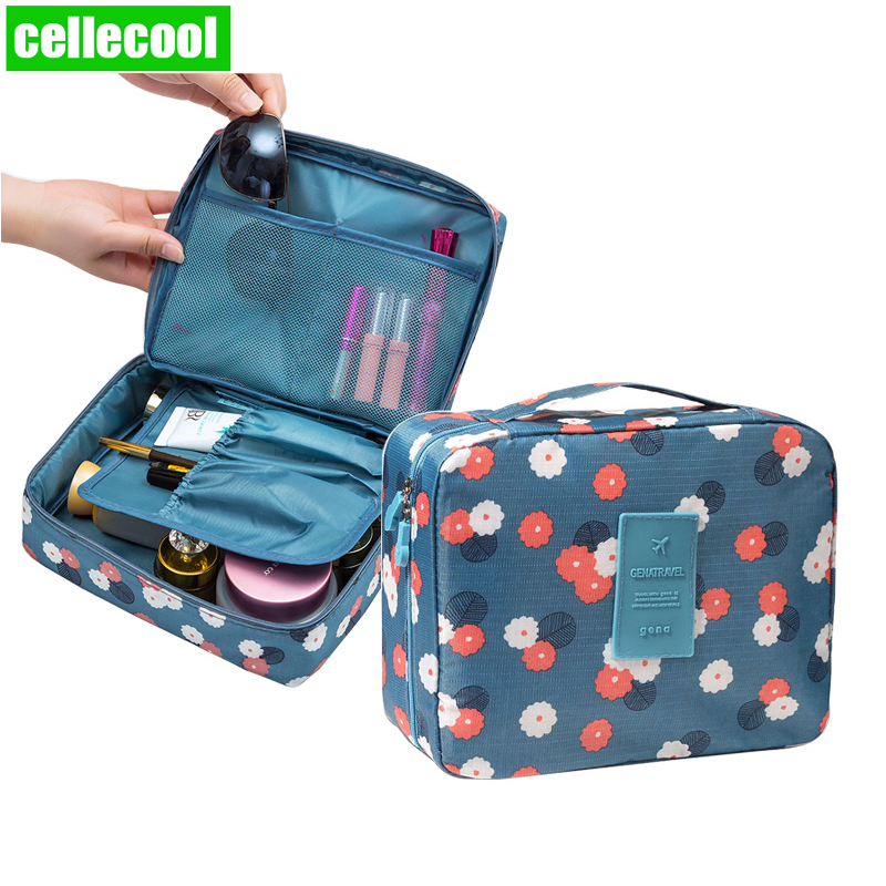 Multifunction Brand Women Cosmetic Bag  Organizer Waterproof Portable Makeup Bag Travel Necessity Beauty Case Wash Pouch
