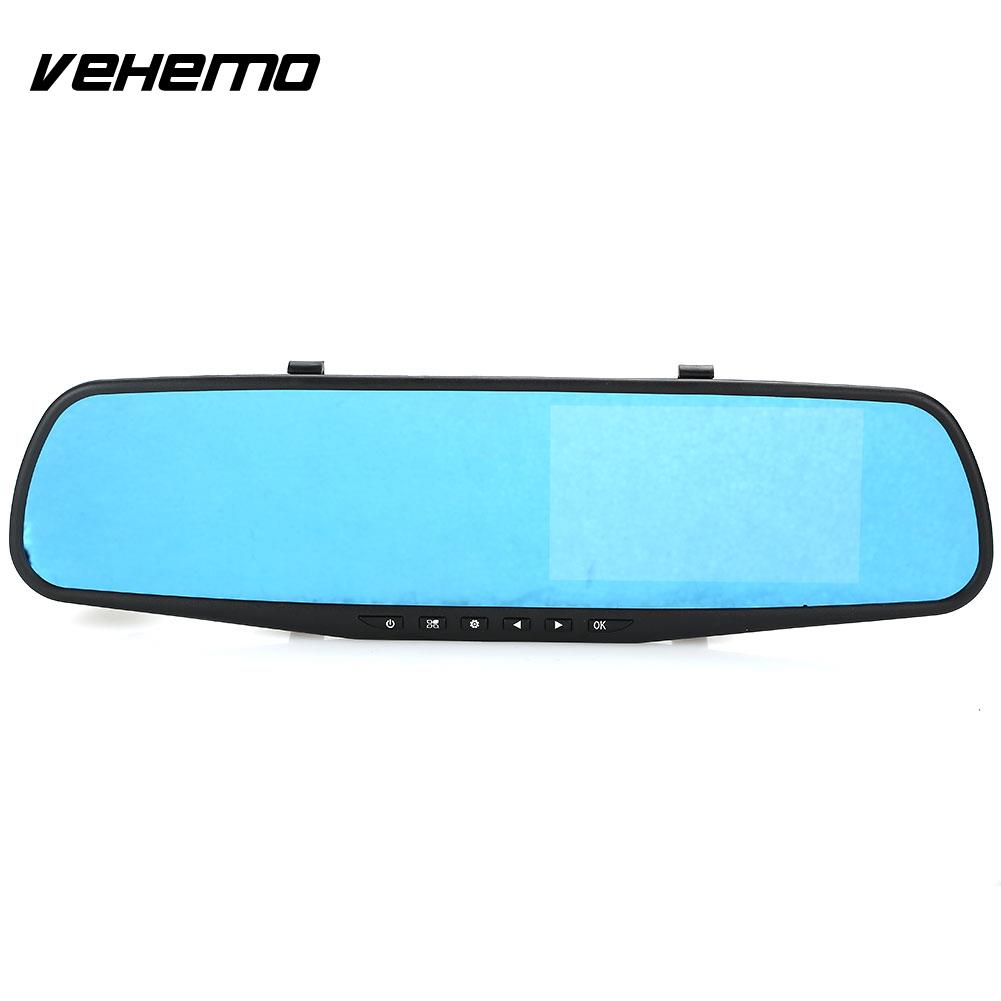 Vehemo FHD 1080P Vehicle Rearview Mirror Auto Camcorder Car Dash Cam Universal DVR Camera Rearview Digital Video Car DVR
