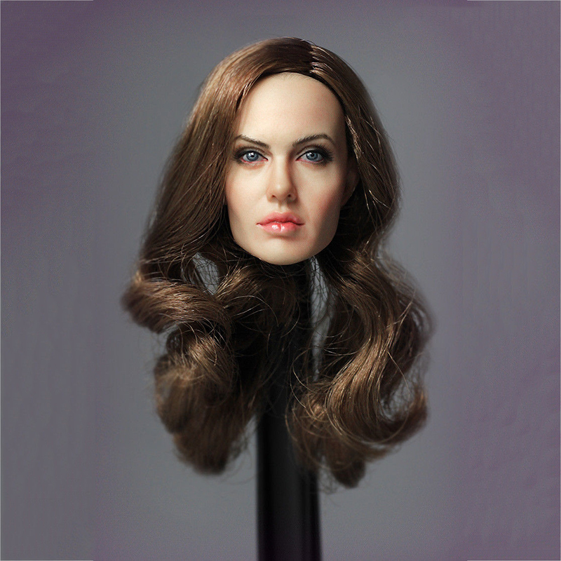 1/6 LG04 Angelina Jolie Head Sculpt Model for 12 inches Action Figure 1 6 scale head sculpt km36 angelina jolie head 12 female action figure doll head carving model toys