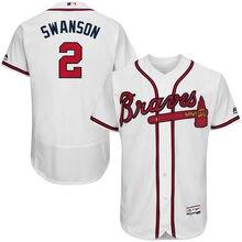 1a265d32e MLB Men s Atlanta Braves Dansby Swanson Home White Authentic Collection  Flex Base
