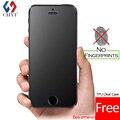 Nenhuma impressão digital protetor de tela premium de vidro temperado para iphone 5 SE 5S 5C Fosco Película Protetora de Vidro Para iPhone5 Livre caso