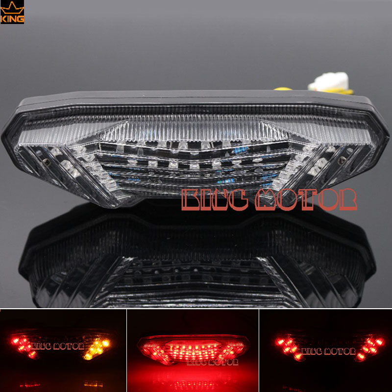 For YAMAHA MT-09 FZ-09 MT-09 Tracer/ Tracer 900 Tracer 700 MT-10/FZ-10 Integrated LED Tail Light Turn signal Blinker Clear for yamaha fz 09 mt 09 fj 09 mt09 tracer 2014 2016 motorcycle integrated led tail light brake turn signal blinker lamp smoke