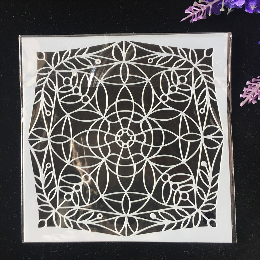 1Pcs 13cm Geometry Circle DIY Craft Layering Stencils Wall Painting Scrapbooking Stamping Embossing Album Card Template