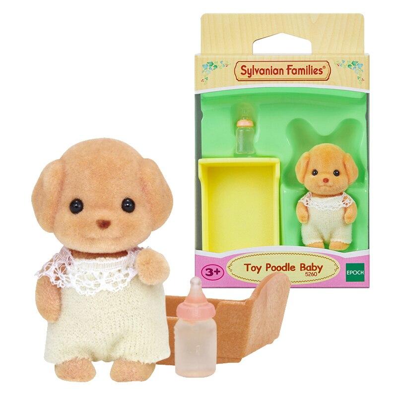 Haushalts-spielzeug Sylvanian Families Pudel Hund Baby W/flasche Gesetzt Puppenhaus Tier Pelzigen Spielzeug Figuren Mädchen Geschenk Neue 5260 Quell Sommer Durst