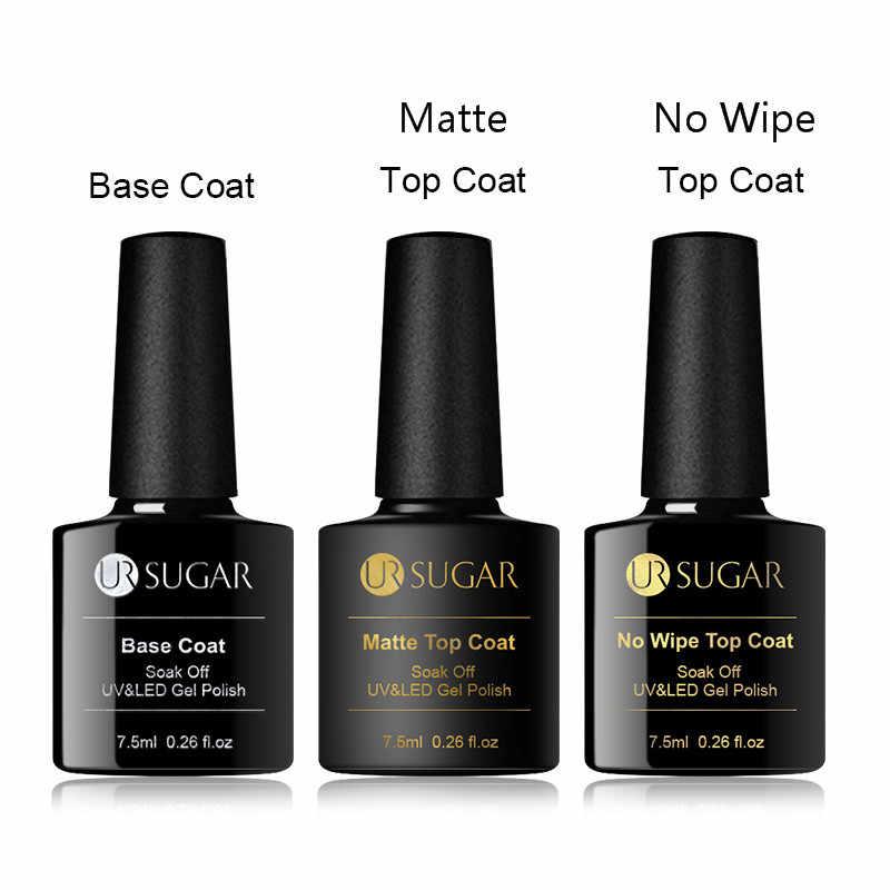 UR SUGAR 7.5Ml No Wipe Top Coatเจลสีเล็บMatte Top Coat UV LED Soakเล็บเจลเคลือบเงาเคลือบเงา