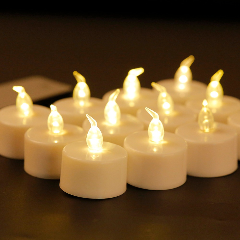 Pack Of 6 12 Wireless Small Led Candles With Remote