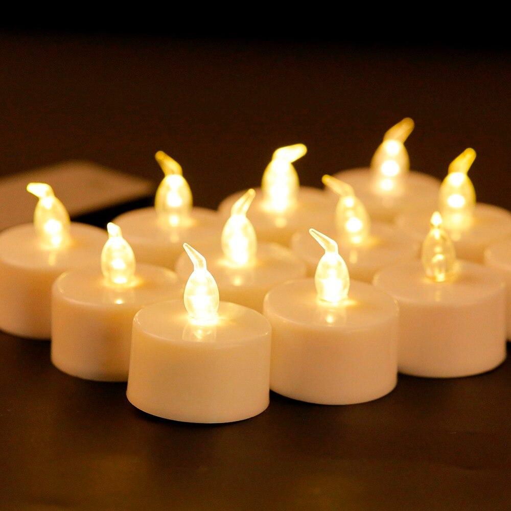 Pack von 6 oder 12 Drahtlose Kleine Led Kerzen Mit Fernbedienung Licht Rauchlose Flammenlose Elektronische Gelb Flicker Licht