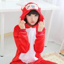 Franela Cosplay Pijama Mujeres Pareja Ropa Familiares Anime Pijama Pijama Mujer Ropa de Dormir zorro traje Pijamas Animal Onesies