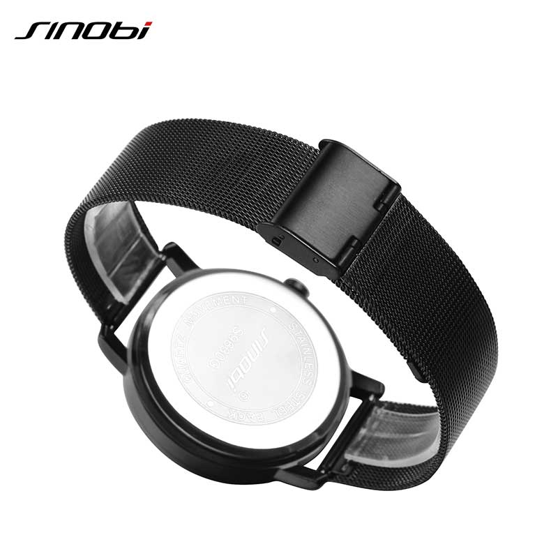 SINOBI Top Brand Luxury Watch Män Stainless Steel Mesh Strap Maze - Herrklockor - Foto 2
