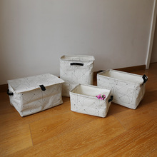Cute Linen Desk Storage Box Holder Jewelry Cosmetic Stationery Organizer Case  Storage Boxes & Bins
