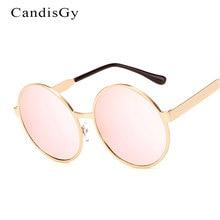 2017 Nueva Moda de Gran Tamaño gafas de Sol Redondas Espejo Mujeres Hombres Diseñador de la Marca Señora de la Mujer gafas de Sol UV400 de Alta calidad