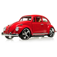Diecast 1/18 Metal VW Beetle 1967 Classic Car Collection Figure Hobbies Model Toy For Children Boys Gifts Without Box