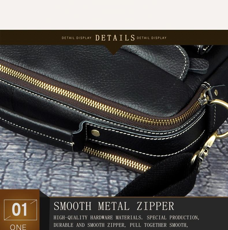 """Le'aokuu Men Real Leather Antique Style Coffee Briefcase Business 13"""" Laptop Cases Attache Messenger Bags Portfolio B207-d"""