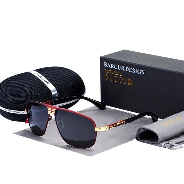 c31882feabb BARCUR Sun Glasses Male Polarized Sunglasses Male Driver Glasses Eyes  Protect Sun Glasses With Accessories Box gafas de sol