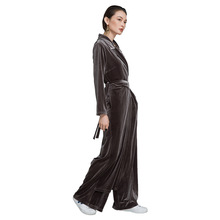 2019 Autumn And Winter woman new stylish corduroy pants high waist chalaza wide leg playsuit for 6610