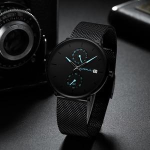 Image 3 - CRRJU Mode Herren Uhren Top Brand Luxus Quarzuhr Männer Beiläufige Dünne Mesh Stahl Wasserdichte Sport Uhr Relogio Masculino