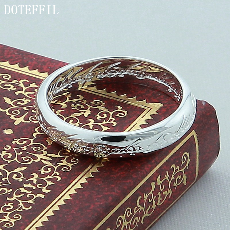 DOTEFFIL 925 srebrni prsten od skulptura od čarobnjaka za vjenčani - Fine nakit - Foto 3