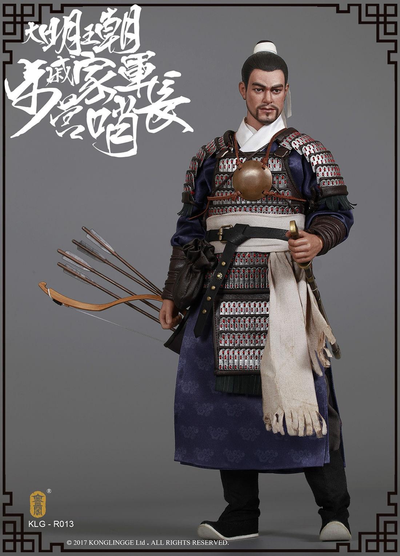 Walk Camp Guard Leader Figure Toy 1//6 KLG-R013 Ming Dynasty Series Qi Troop