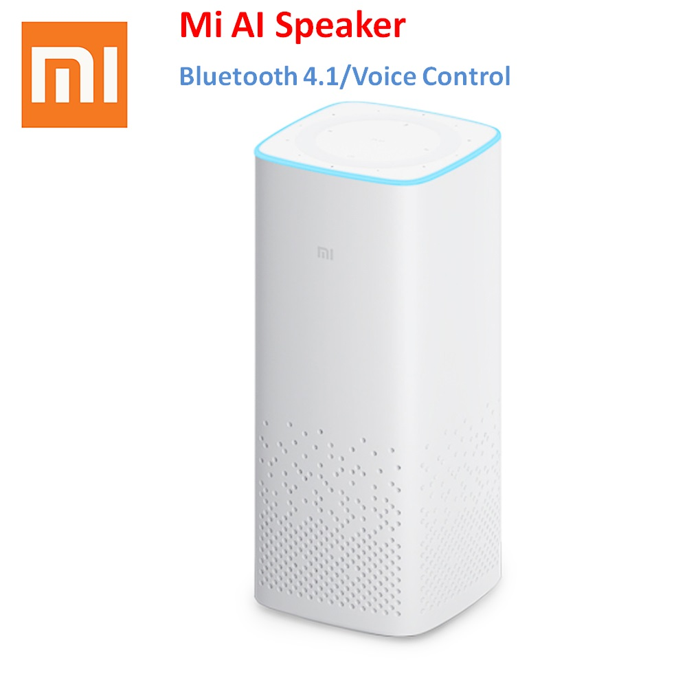 Original Xiaomi MI AI Bluetooth Smart Speaker with Voice Control Music Player Support Mijia Smart Home Control original xiaomi mi speaker mini 2 4g wifi voice smart speaker wireless portable speaker bluetooth 4 1 with 4 mic of smart home