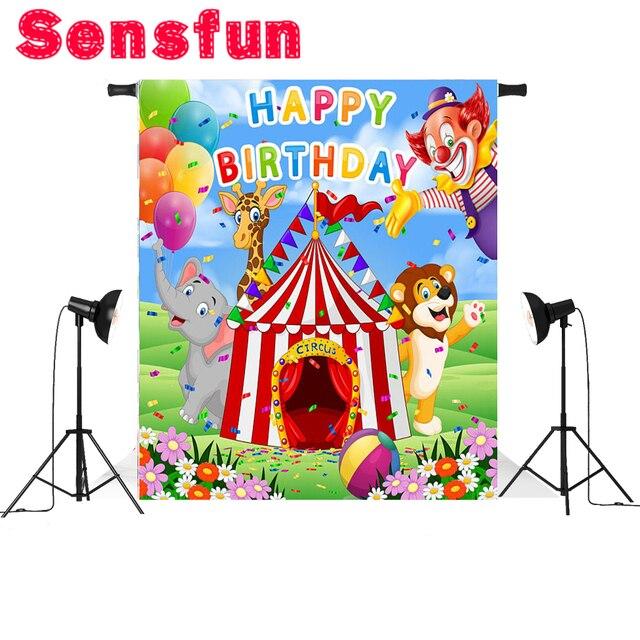 Cartoon Bambini Tenda Da Circo Pagliaccio Di Carnevale Festa Di