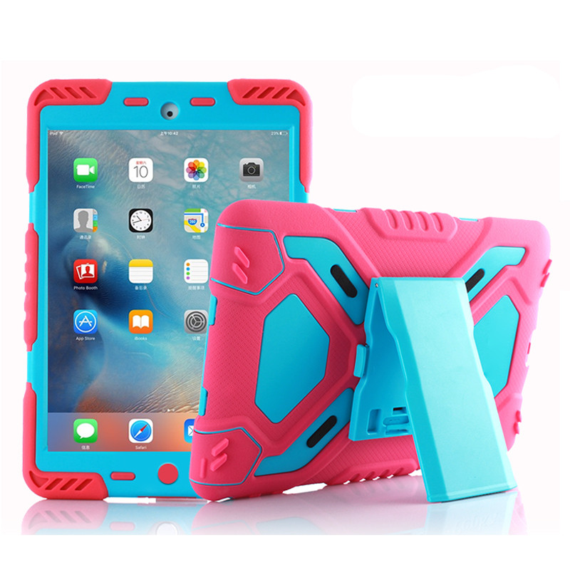 Shockproof Heavy Duty Case For New IPad 2018 2017 Pro 9.7 Kids Safe Case Stand Cover For IPad Air 1 2 Silicone Case Shell Coque