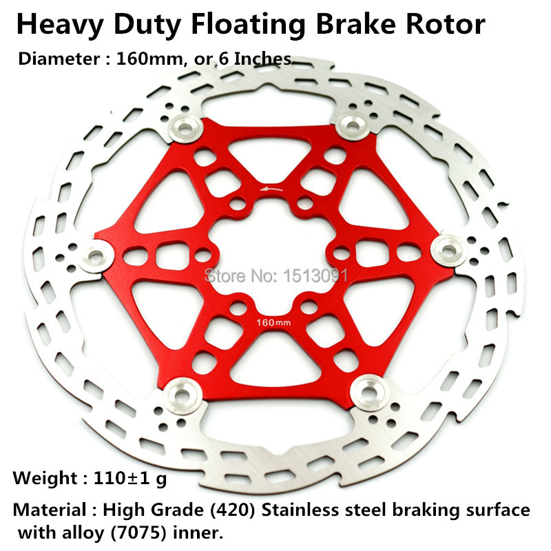 NEW X1 Disc Brake Floor Rotor 160 mm DOWN HILL ROTOR 1 PCS me 6 - Çiklizmit - Foto 1