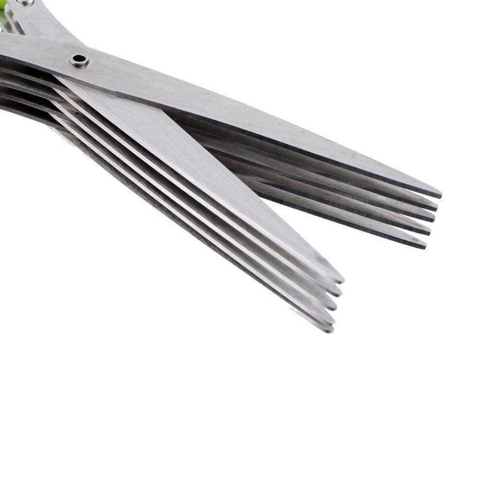 Многофункциональные кухонные ножи из нержавеющей стали 5 Многослойные ножницы для суши измельченные чешуйки травы ножницы для специй инст...