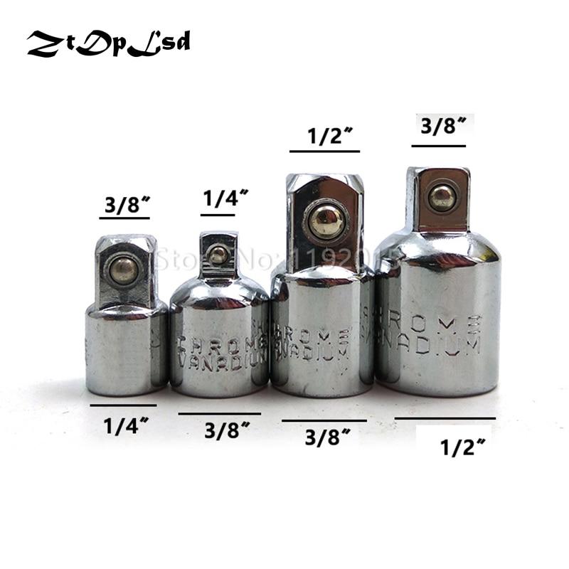 1/4 3/8 1/2 Chrome Vanadium Steel Sleeve Adapter Converter Drive  Socket Wrench Adapter Wrench-sleeve Joint Converter Hand Tools