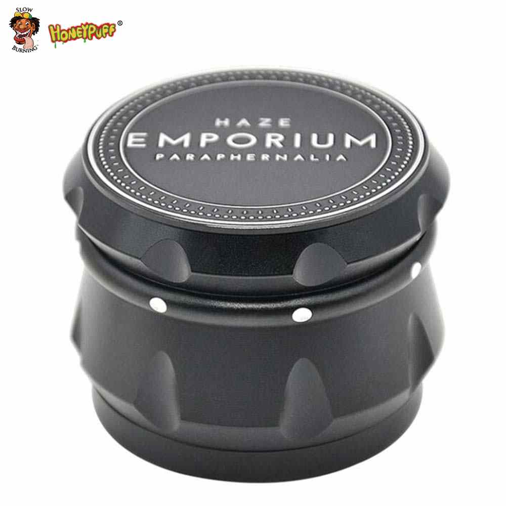 HONEYPUFF Speaker Shape Herb Grinder Aircraft Aluminum Grinder Weed 56 MM 4 Layers Crusher Herb Tobacco Grinder Spice Crusher
