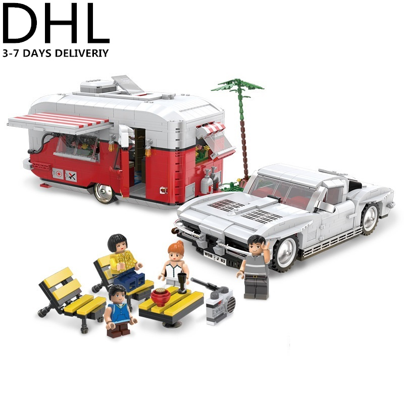 XINGBAO Technic Creator City T1 Camper Van Car Building Blocks Sets Bricks Model Kids Toys Gifts Compatible Legoings 1681pcs assembly blocks burj khalifa tower model toy diamond bricks kids gifts birthday present compatible creator 16 16 45cm