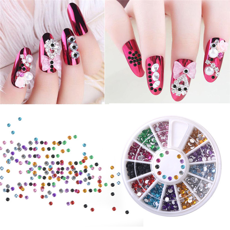 Buy hnm 3d nail art decorations colorful for 3d nail art decoration