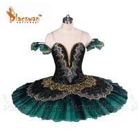 Professional Ballet Tutus Jade BT639 Girls Ballet Tutu Professional Ballet Tutu Black Emerald Green Professional PancakeTutus