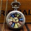 Nova Chegada Do Vintage Estilo Antigo Bússola Tampa De Vidro Relógio de Bolso Retro com Colar Cadeia Fob Assista Presentes para o Transporte Livre