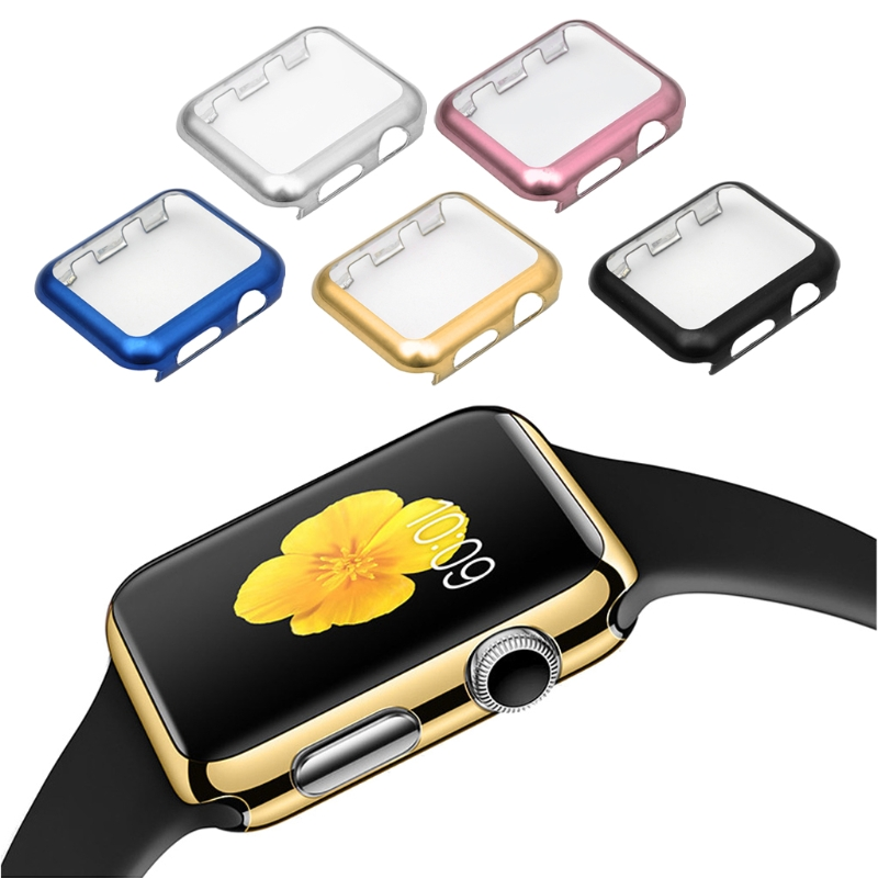 цены на Ultra-Thin Full Screen Protector Cover PC Case For Apple Watch Series 1 2 38/42mm в интернет-магазинах