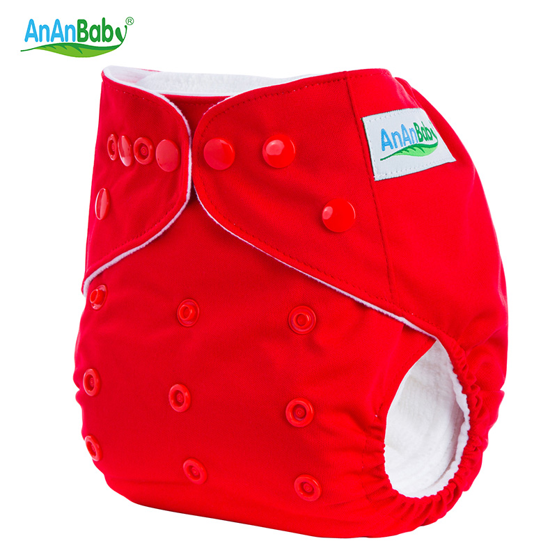 Ananbaby Washable Baby Nappies Double Gussets Adjustable Cloth Diaper Waterproof Breathable Reusable Diaper/Couche Lavable HA002