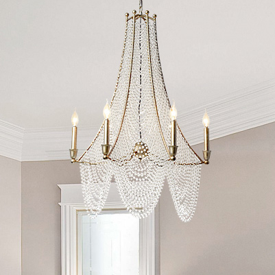 Araña de cristal candelabros de cristal de país americano lámpara de iluminación nórdica para el hogar Luz colgante D79cm H96cm AC90V-260V