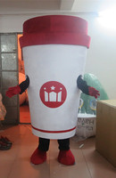 Custom made Deluxe red Coffee cup mascot costume for Halloween party