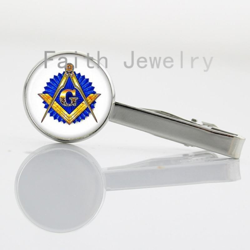 2016 new fashion Masonic jewelry vintage Masonic sign tie clip trendy Masonic symbol men accessory retro gentlemen tie pin NS275